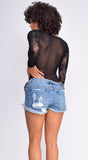 Dian Black Lace Long Sleeve Bodysuit