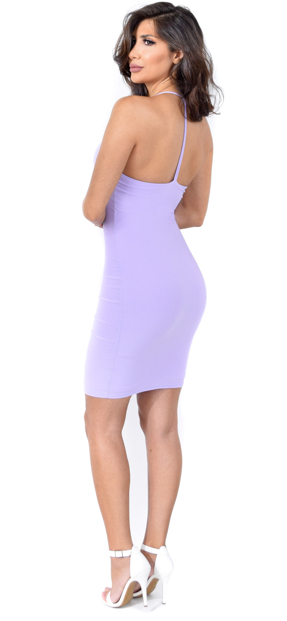Rosa Lavender T Back Dress - Emprada