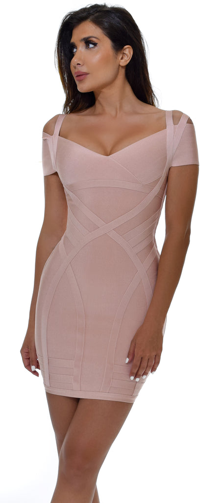 Vina Blush Bandage Dress