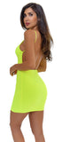 Ankine Neon Green Open Back Dress - Emprada