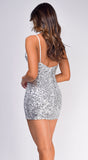 Shera Silver Sequin Dress