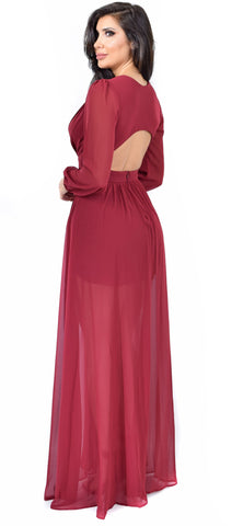 Anita Wine Maxi Dress
