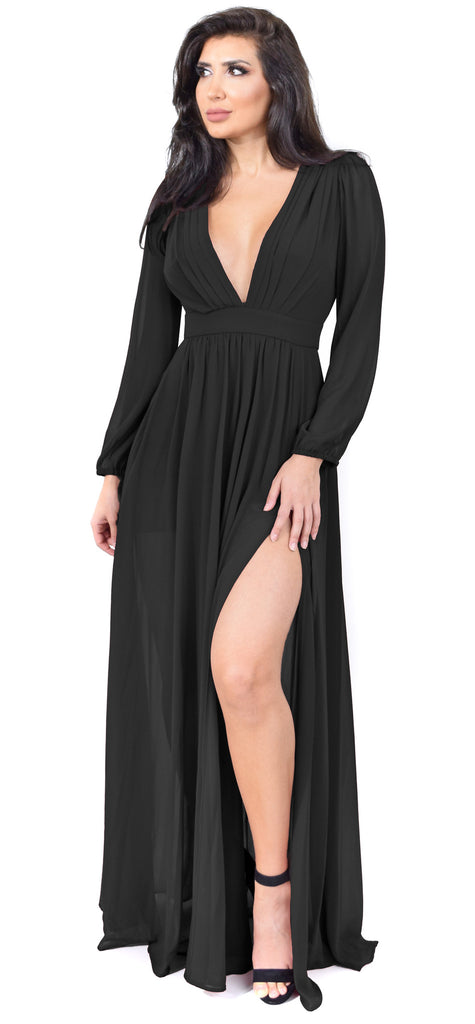 Anita Black Maxi Dress - Emprada