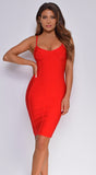 Lorelai Red Bustier Bandage Dress