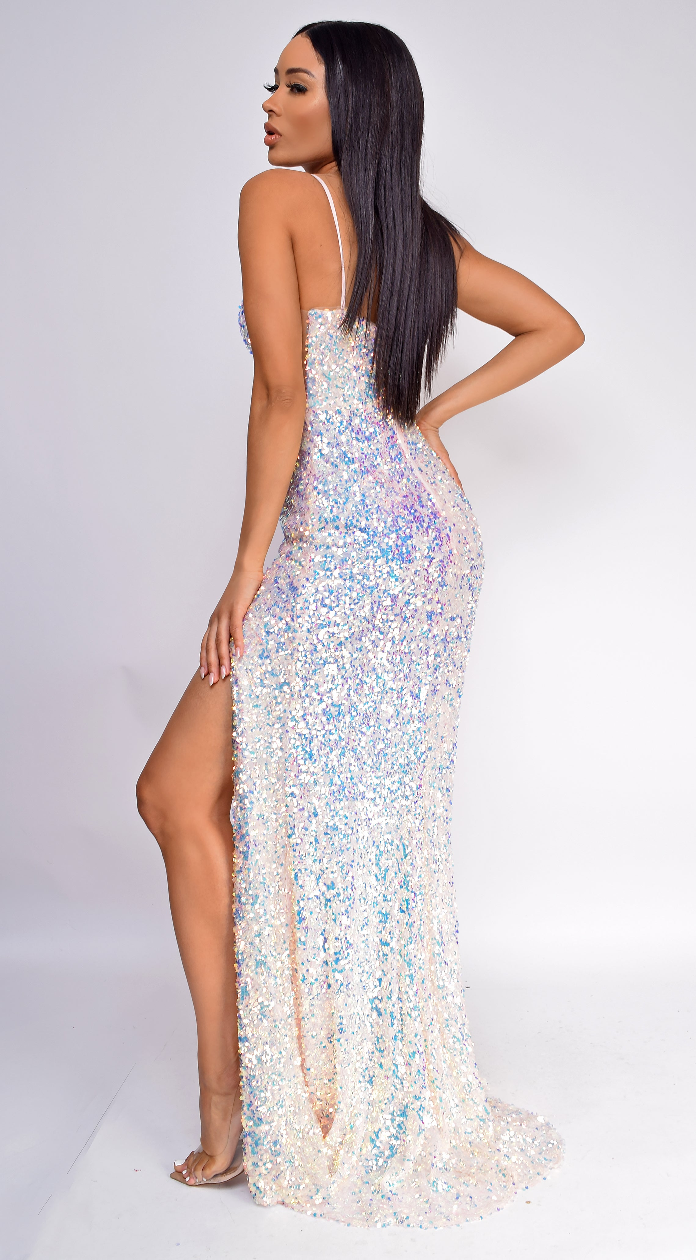 Madyson Opal Pink Sequin Gown