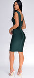 Anniston Hunter Green Bandage Dress - Emprada