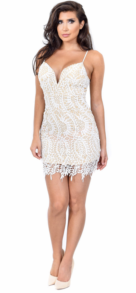 2be7c2443c Denice White Lace Dress - Emprada