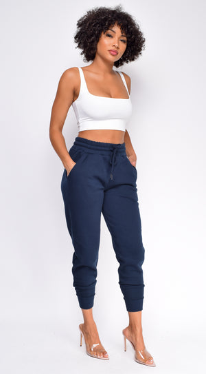 Leisure Navy Blue Joggers