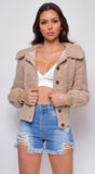 Delta Beige Teddy Jacket