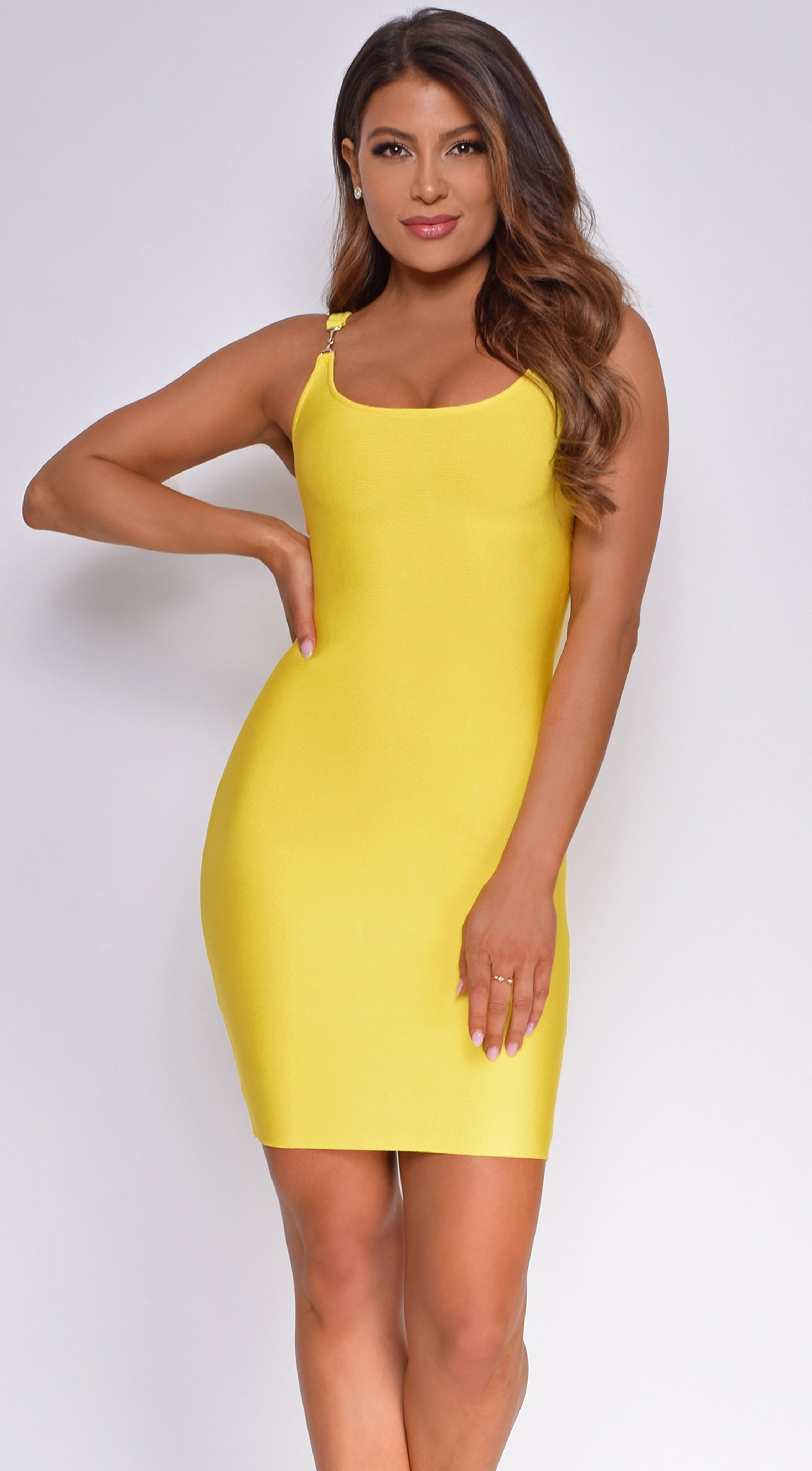 Ryden Yellow Bandage Dress