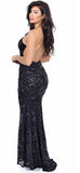 Klarissa Black Sequin Gown - Emprada