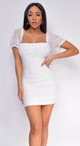 Zendaya White Ivory Ruched Dress