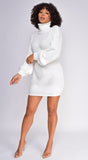 Tatyana Ivory White Oversized Sweater dress