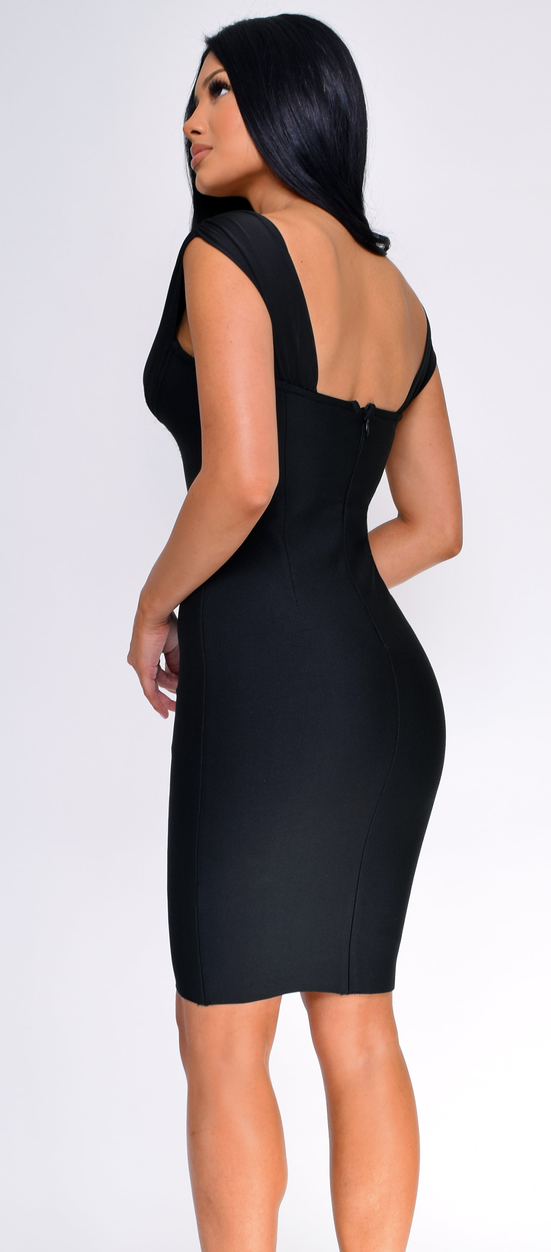 Violetta Black Bandage Dress
