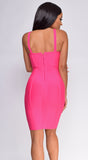 Taniyah Hot Pink Bustier Bandage Dress