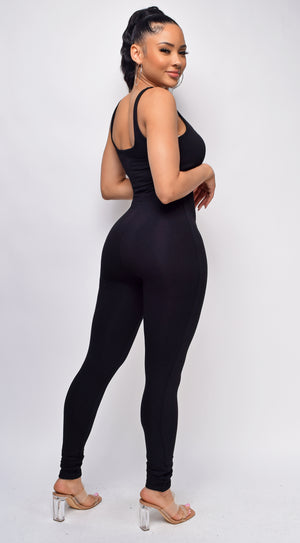 Jensen Black Scoop Neck Jumpsuit