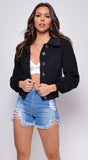 Delta Black Teddy Jacket