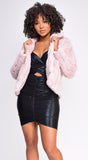 Romana Pink Faux Fur Coat