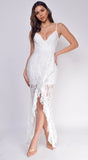 Arsema White Lace Maxi Dress