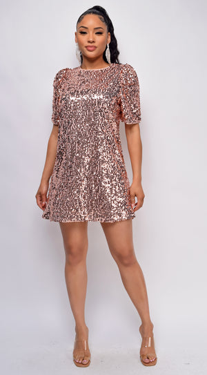 Renee Rose Gold Sequin Dress
