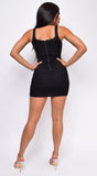 Ainara Black Ruched Dress