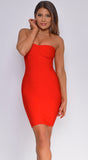 Jariah Red Tube Bandage Dress