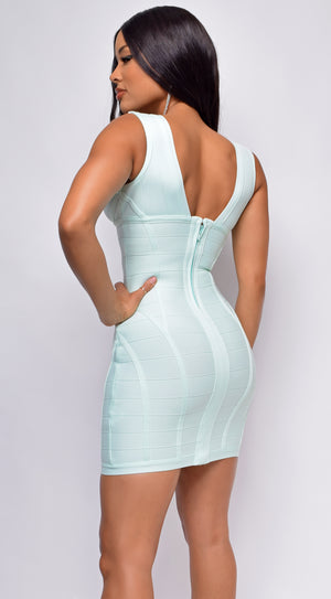 Kamiya Light Green Bandage Dress