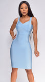 Alyse Blue Bandage Dress