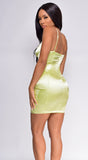 Lennox Lemon Yellow Satin Dress
