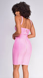 Alyssa Pink Bandage Dress