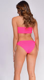Palm Springs Hot Pink Bandeau Bow Front Knot Bikini