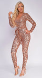 Jessa Rose Gold Sequin Jumpsuit