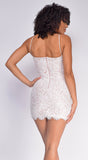 Mimi White Lace Bandage Dress