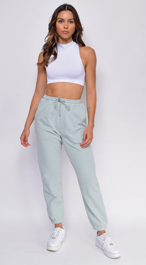 Take It Easy Sage Green Joggers