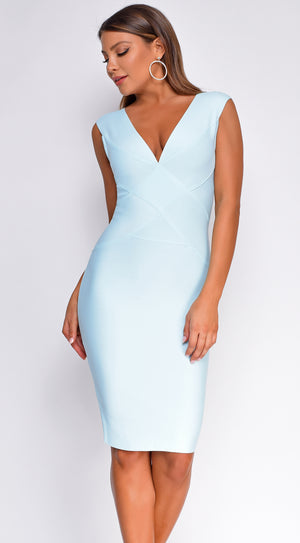Anniston Light Bue Bandage Dress