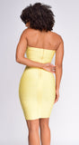 Melany Yellow Tube Bandage Dress