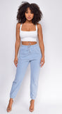 Take It Easy Light Blue Joggers
