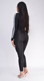 Prisha Black Zip Up Jumpsuit