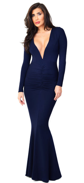 Anastasia Navy Maxi Dress - Emprada