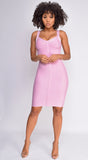 Zinnia Pink Bandage Dress