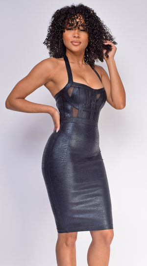 Tamila Black Bandage Dress