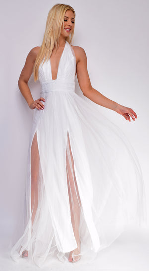 Juliet White Maxi Gown