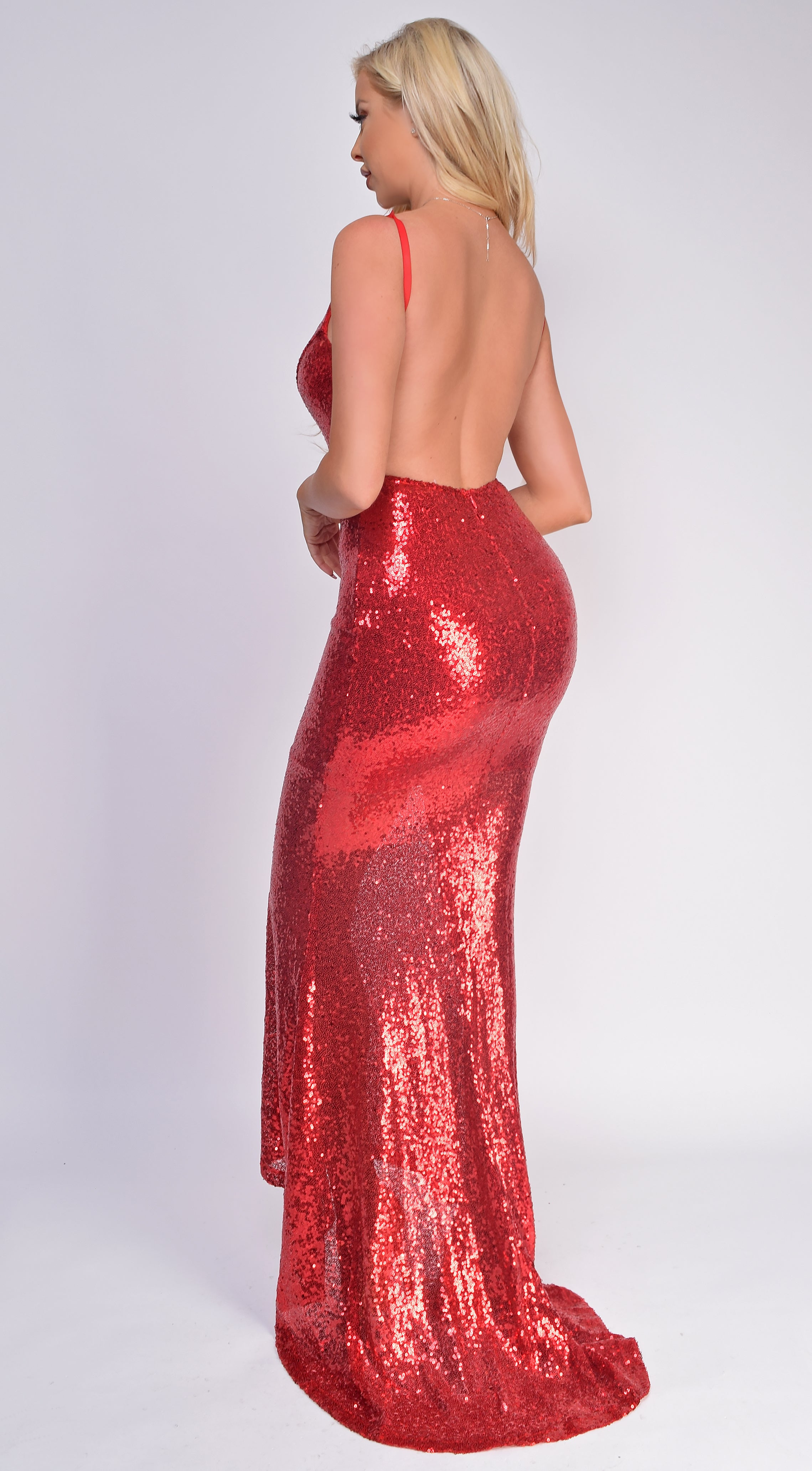 Cateleya Red Sequin Gown