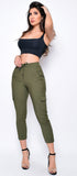 Rebel Olive Green Cargo Joggers