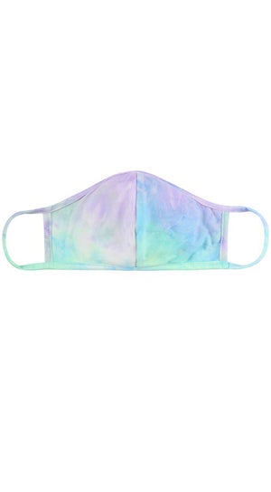 Tie Dye Aqua Blue Lilac Reusable Face Mask