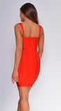 Easton Red Double Strap Bandage Dress