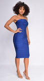 Sylvia Navy Blue Tube Bandage Dress