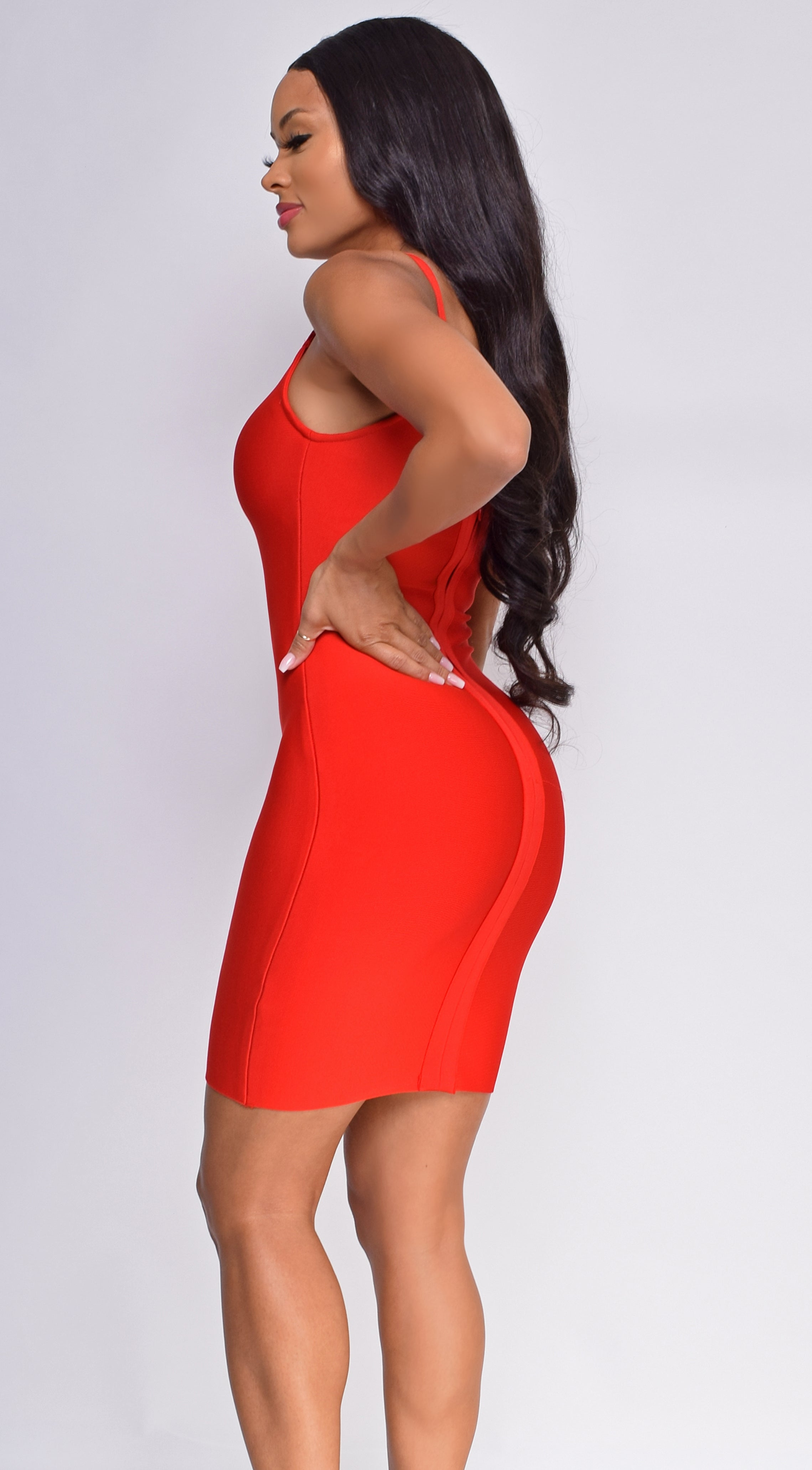 Abigay Red Bandage Dress
