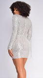Paulina Silver Beaded Dress