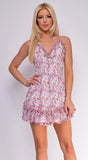 Sunny Days Pink Floral Print Dress